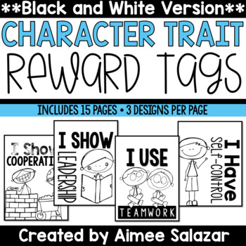 BLACK & WHITE Reward Tags {Character Traits}