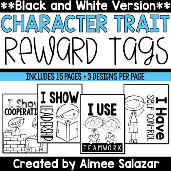 BLACK & WHITE Brag Tags {Character Traits}