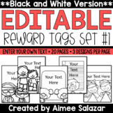 BLACK & WHITE Brag Tags {Editable Set #1}