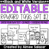 BLACK & WHITE Brag Tags {Editable Set #2}