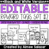 BLACK & WHITE Reward Tags {Editable Set #2}