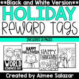 BLACK & WHITE Reward Tags {Holiday Set}