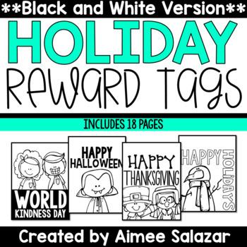 BLACK & WHITE Reward Tags {Holiday Set}