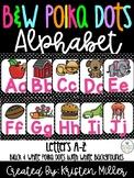 BLACK & WHITE POLKA DOT THEME Classroom Decor Posters- Alphabet