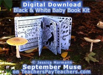 BLACK & WHITE Shape & Detail BOOK for BABY - for Newborn Early Development