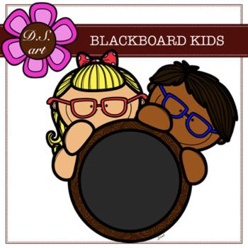 BLACKBOARD KIDS Digital Clipart (color and black&white)