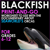 BLACKFISH - Print and Go Worksheets for Analysis of the Se