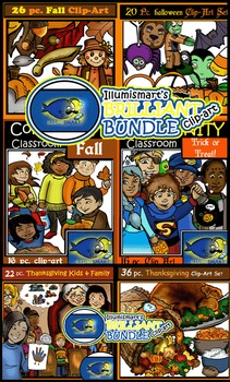 Ultimate Fall Clip-Art Bundle: Halloween, Thanksgiving,& Fall!