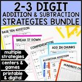 Two-Digit & Three-Digit Addition & Subtraction Strategies BUNDLE - Digital
