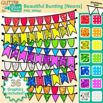 Beginner Clip Art Bundle | Alphabet Letters, Pencils, Scrapbook Paper, Bunting
