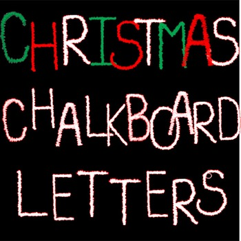 Chalkboard Christmas Frame and Letter Bundle