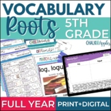 Vocabulary Roots Word Study BUNDLE for 5th Grade