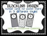BLACKLINE DESIGN- POCKET CHART NUMBER CARDS for CLASSROOM MANAGEMENT