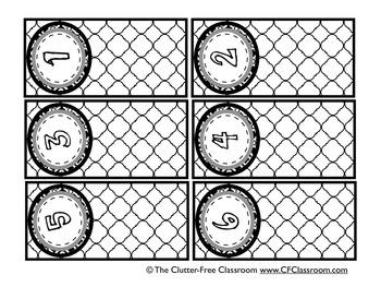 BLACKLINE DESIGN- POCKET CHART NUMBER CARDS for CLASSROOM MANAGEMENT