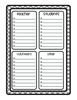 BLACKLINE DESIGN- TEACHER TO DO LISTS {8 different templates}