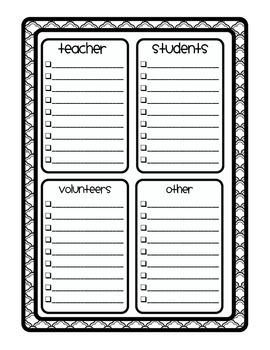 BLACKLINE DESIGN- TEACHER TO DO LISTS {8 different templates}