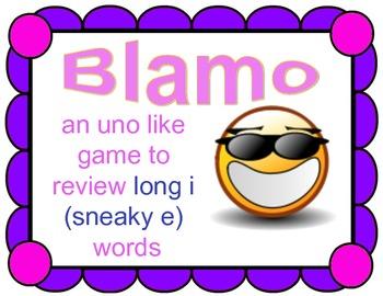 BLAMO LONG I (Sneaky e)--- (an uno like blending game)