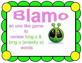 BLAMO LONG O & U (Sneaky e)--- (an uno like blending game)