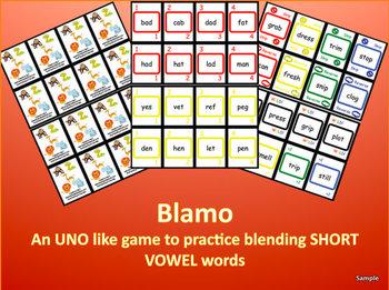 BLAMO SHORT VOWELS (an uno like blending game)