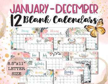 picture about Printable Perpetual Calendars identified as Printable Perpetual Calendar (January - December, any calendar year!)