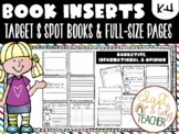 BLANK BOOK INSERTS for Publishing Stories-Fits in Target Books & Full size pages