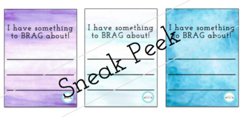 BLANK BRAG TAGS - watercolour - *PACK OF 6*
