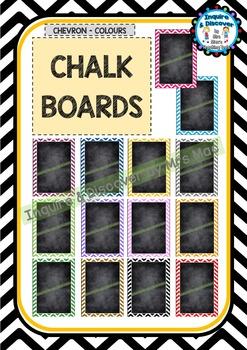 Back To School - BLANK CHALKBOARDS - Classroom Decor - Chevron