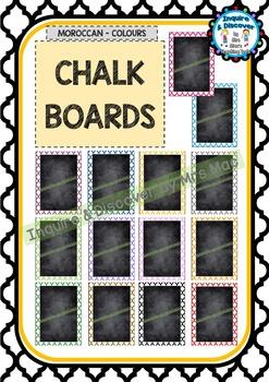 Back To School BLANK CHALKBOARD - Classroom Decor - Posters