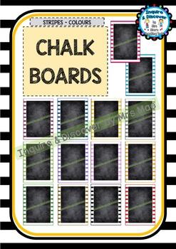 Back To School BLANK CHALKBOARDS - Classroom Decor - Poste