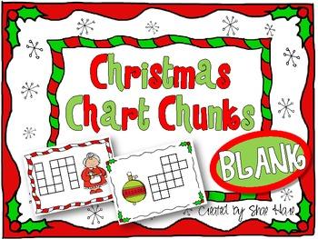 BLANK! Christmas Chart Chunks - Common Core Math Work station Center