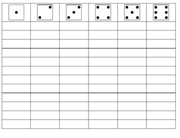 BLANK Dice and Roll for Articulation