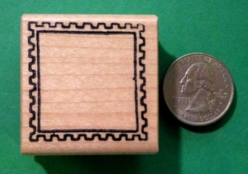 BLANK FRAME County/Passport Rubber Stamp