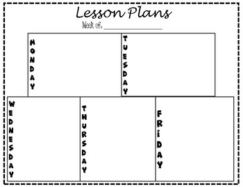 blank lesson plan template by manicmiddleschoollady tpt