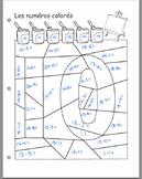 BLANK Math Colouring Activity