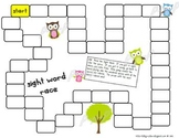 BLANK Owl themed Sight Word Game Board