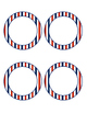 Blank Red White And Blue Striped Classroom Labels - Editable