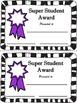 SUPER STUDENT AWARDS, Blank [FREE]