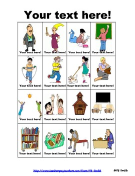 BLANK School Vocabulary PICTURE Notes SET