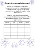 BLANK TREATS TEMPLATE food donation 4 celebrations holidays up to 20 students