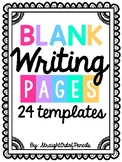 BLANK Writing Pages with Lines - Writing Templates for ANY Writing