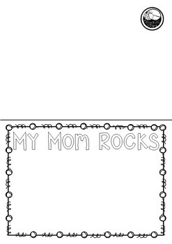 BLANK mother's day CARDS - My mom mum rocks