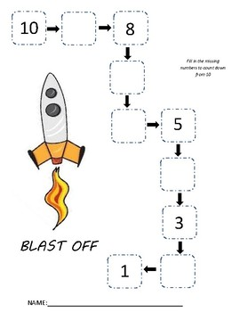 BLAST OFF - Countdown from 10