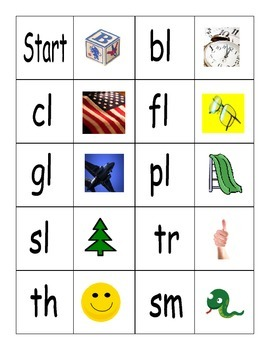 BLEND/DIGRAPH DOMINO GAME; literacy center; Phonics; Readi