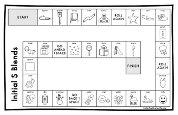 R BLENDS, S BLENDS, L BLENDS ARTICULATION GAME BOARD Make & Take, SPEECH THERAPY
