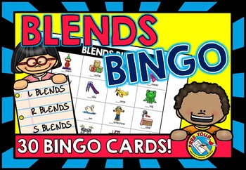 CONSONANT BLENDS GAME (BINGO ACTIVITY)