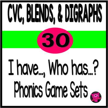 I have Who Has Blends and Digraphs Game Set Bundle