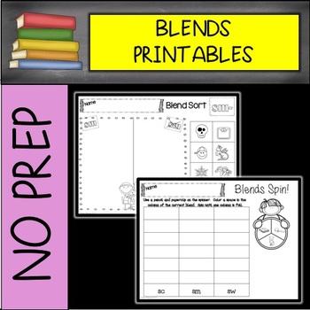 SC, SK, SM, SN, SP, ST, SW Blends NO PREP Printables
