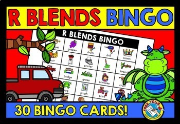BLENDS GAME BUNDLE: PHONICS CENTERS: BLENDS BINGO GAMES: BLENDS ACTIVITIES