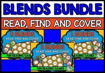 BLENDS GAME BUNDLE: PHONICS CENTERS: BLENDS READING GAMES:
