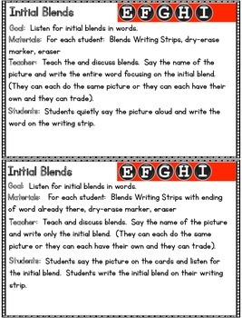 BLENDS- Guided Reading Activities